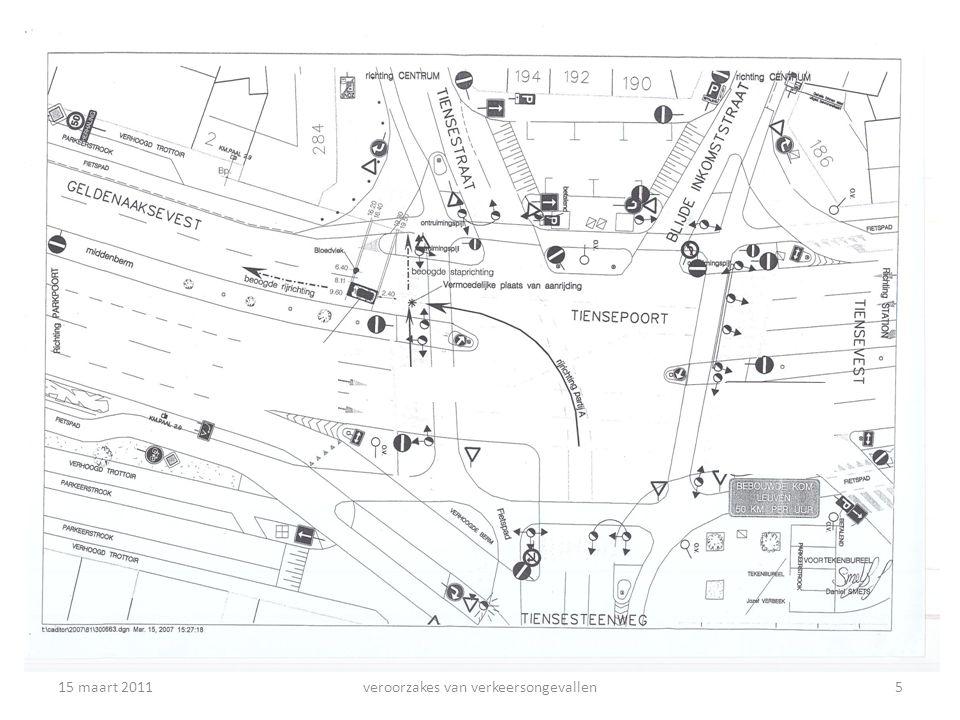 Mijn eigen ongeval – de feiten (2) Situatie van het ongeval ; – Ik had groen, vertraagde op kruispunt, moest links afdraaien.