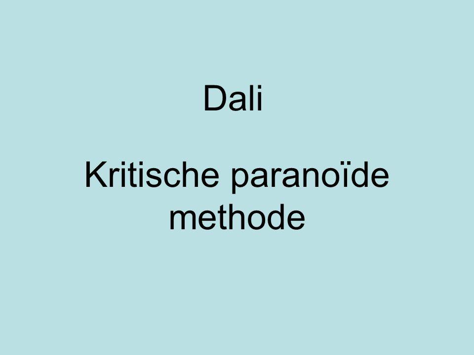 Dali Kritische paranoïde methode