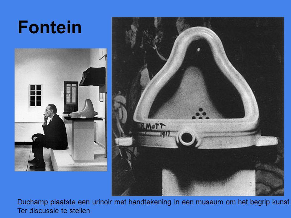 Fontein Duchamp plaatste een urinoir met handtekening in een museum om het begrip kunst Ter discussie te stellen.