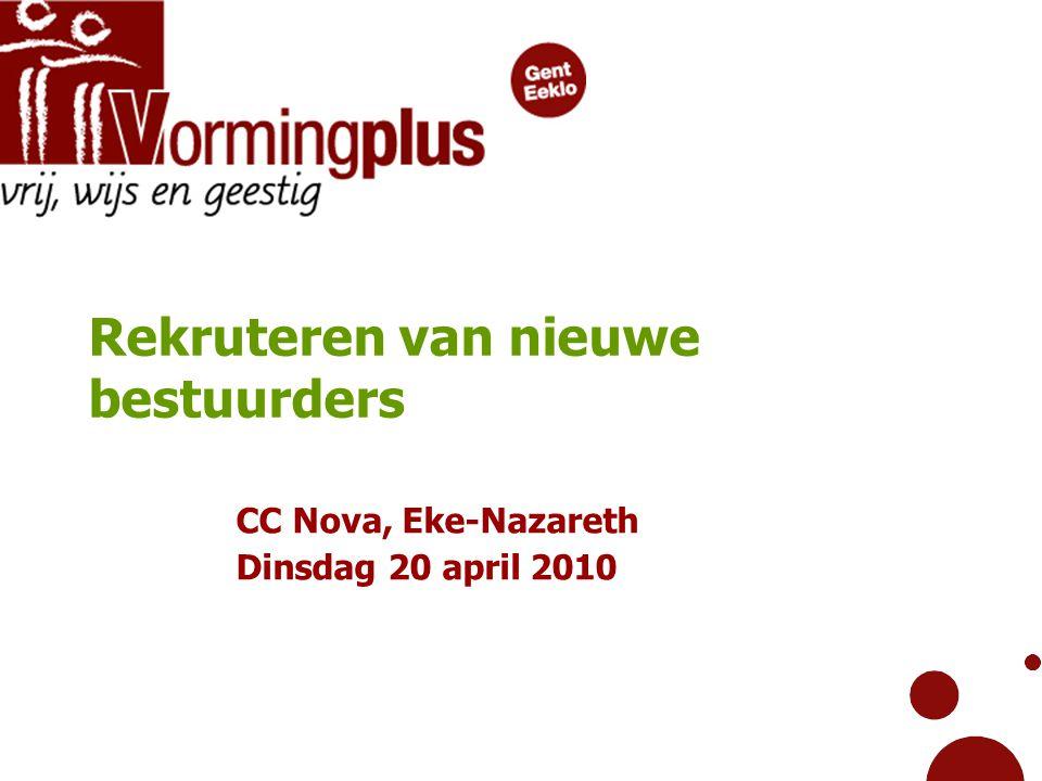 Rekruteren van nieuwe bestuurders CC Nova, Eke-Nazareth Dinsdag 20 april 2010