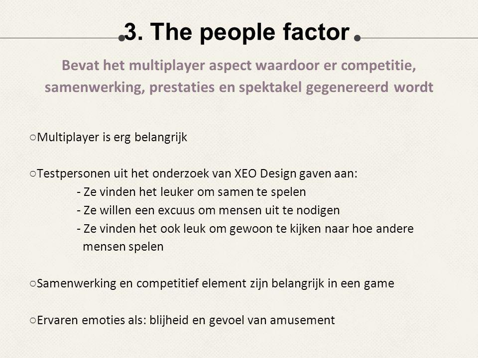 ○Multiplayer is erg belangrijk ○Testpersonen uit het onderzoek van XEO Design gaven aan: - Ze vinden het leuker om samen te spelen - Ze willen een exc