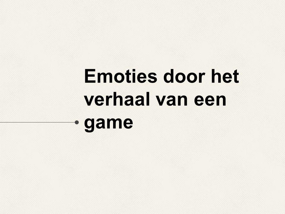 Emoties door het verhaal van een game