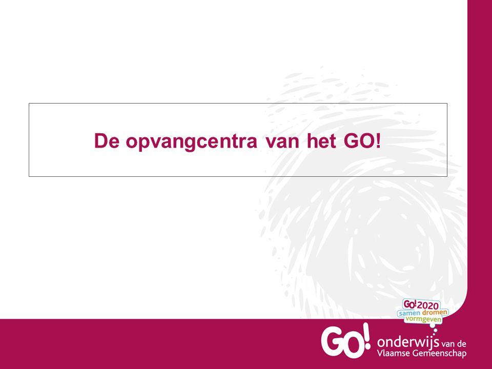 De opvangcentra van het GO.– noodinternaten . Recent werden de opvangcentra GO.