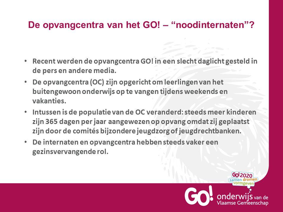 """De opvangcentra van het GO! – """"noodinternaten""""? Recent werden de opvangcentra GO! in een slecht daglicht gesteld in de pers en andere media. De opvang"""