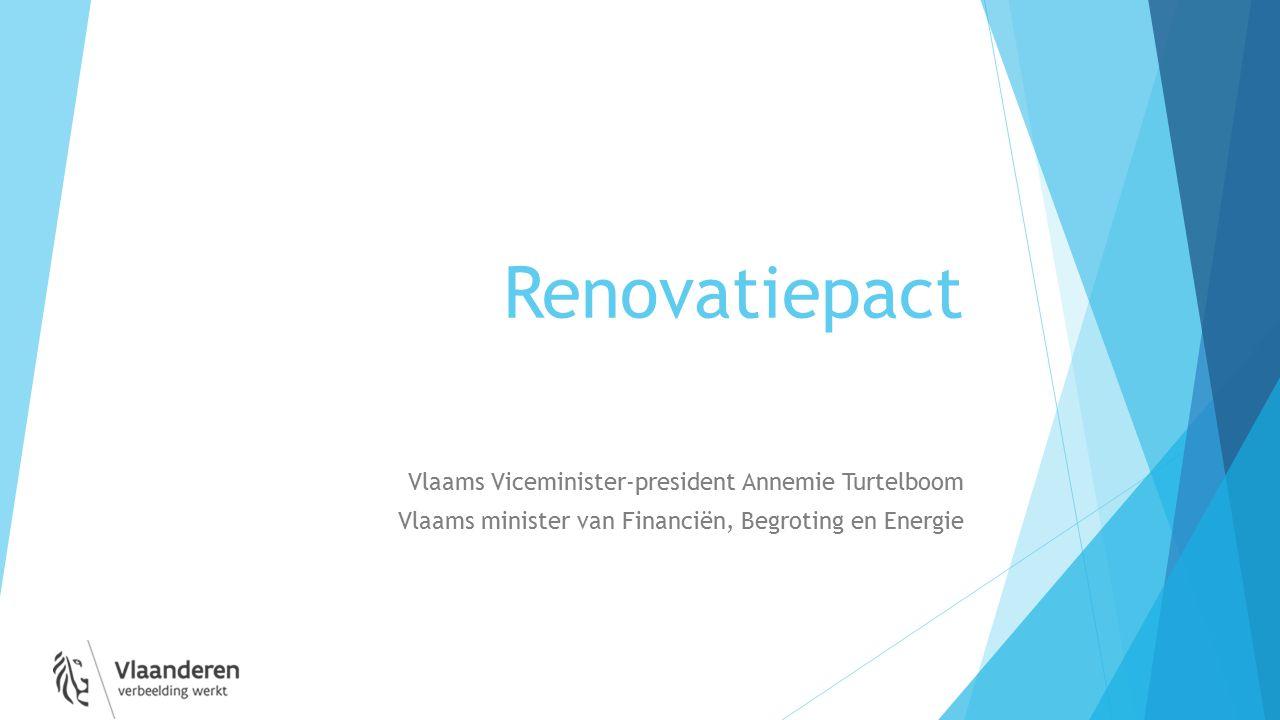 Renovatiepact Vlaams Viceminister-president Annemie Turtelboom Vlaams minister van Financiën, Begroting en Energie