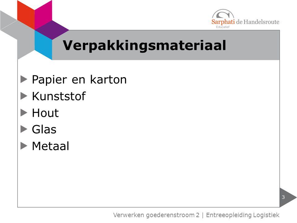 Papier en karton Kunststof Hout Glas Metaal 3 Verwerken goederenstroom 2 | Entreeopleiding Logistiek Verpakkingsmateriaal