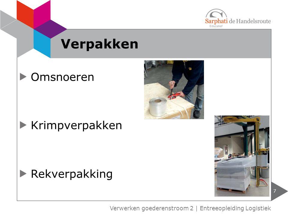Omsnoeren Krimpverpakken Rekverpakking 7 Verwerken goederenstroom 2 | Entreeopleiding Logistiek Verpakken