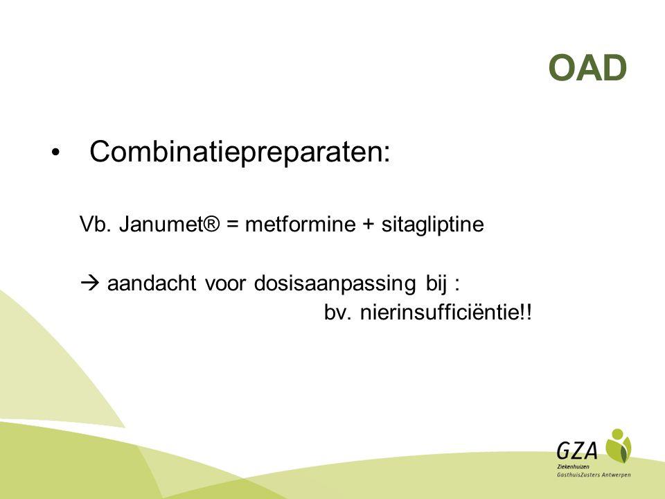 OAD Combinatiepreparaten: Vb.
