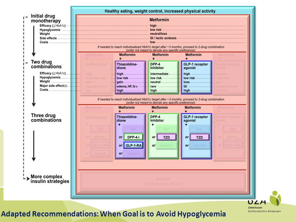 Adapted Recommendations: When Goal is to Avoid Hypoglycemia