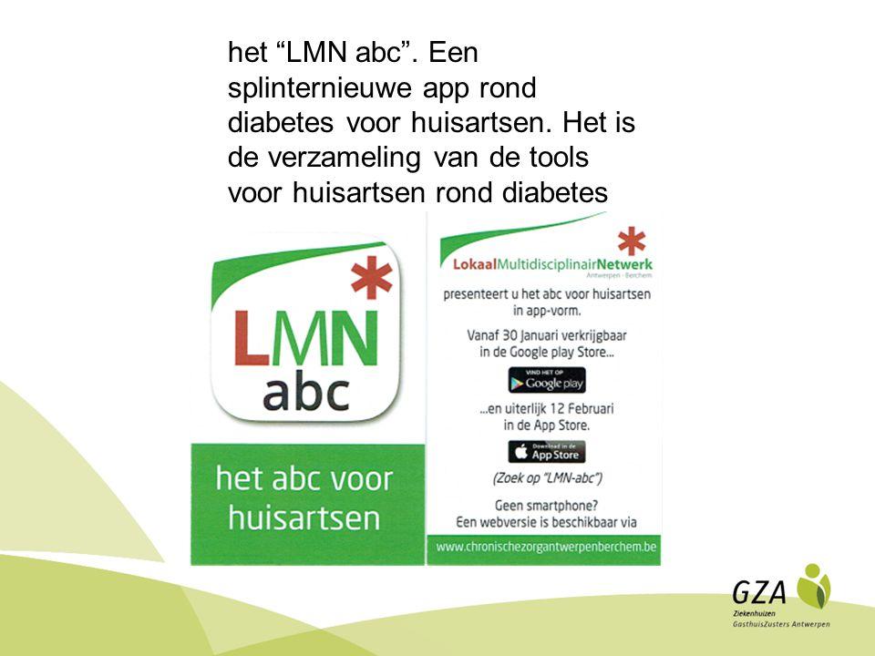 het LMN abc .Een splinternieuwe app rond diabetes voor huisartsen.