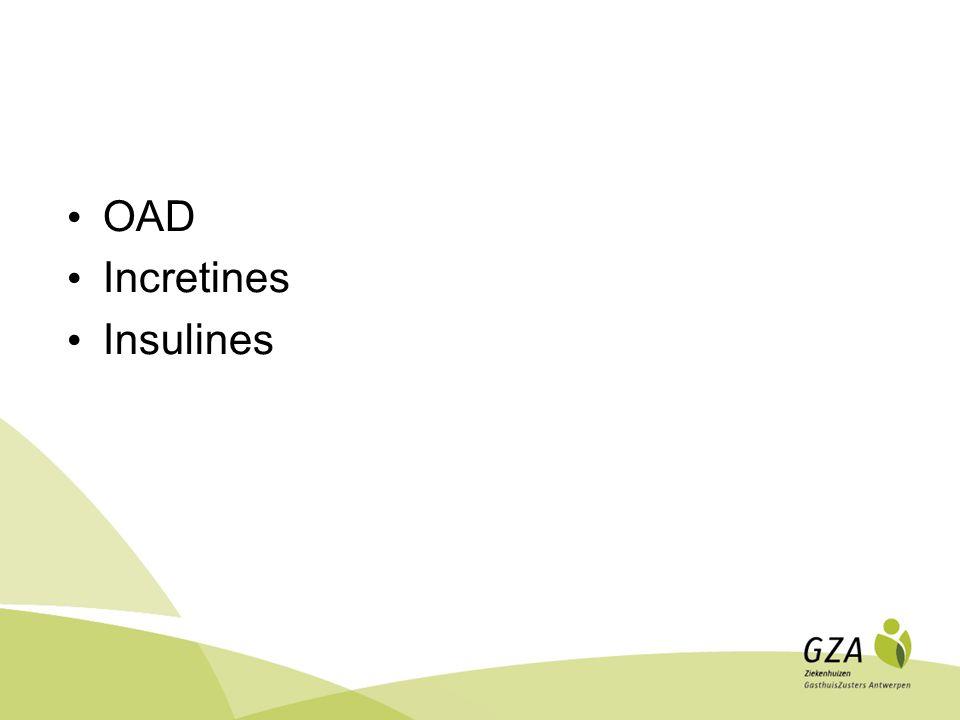 OAD Producten die de insulinesecretie stimuleren Sulfonylurea (vb.