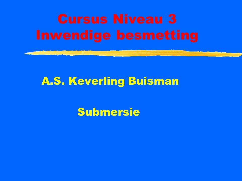 Cursus Niveau 3 Inwendige besmetting A.S. Keverling Buisman Submersie