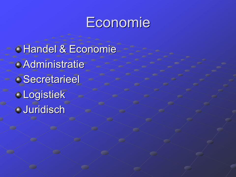 Economie Handel & Economie AdministratieSecretarieelLogistiekJuridisch