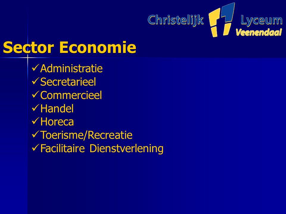 Sector Economie Administratie Secretarieel Commercieel Handel Horeca Toerisme/Recreatie Facilitaire Dienstverlening