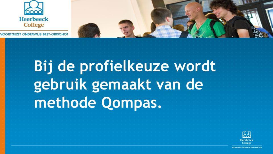 Bij de profielkeuze wordt gebruik gemaakt van de methode Qompas.