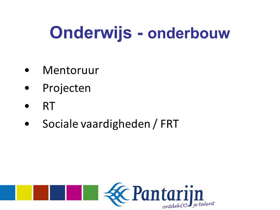 Onderwijs - onderbouw Mentoruur Projecten RT Sociale vaardigheden / FRT