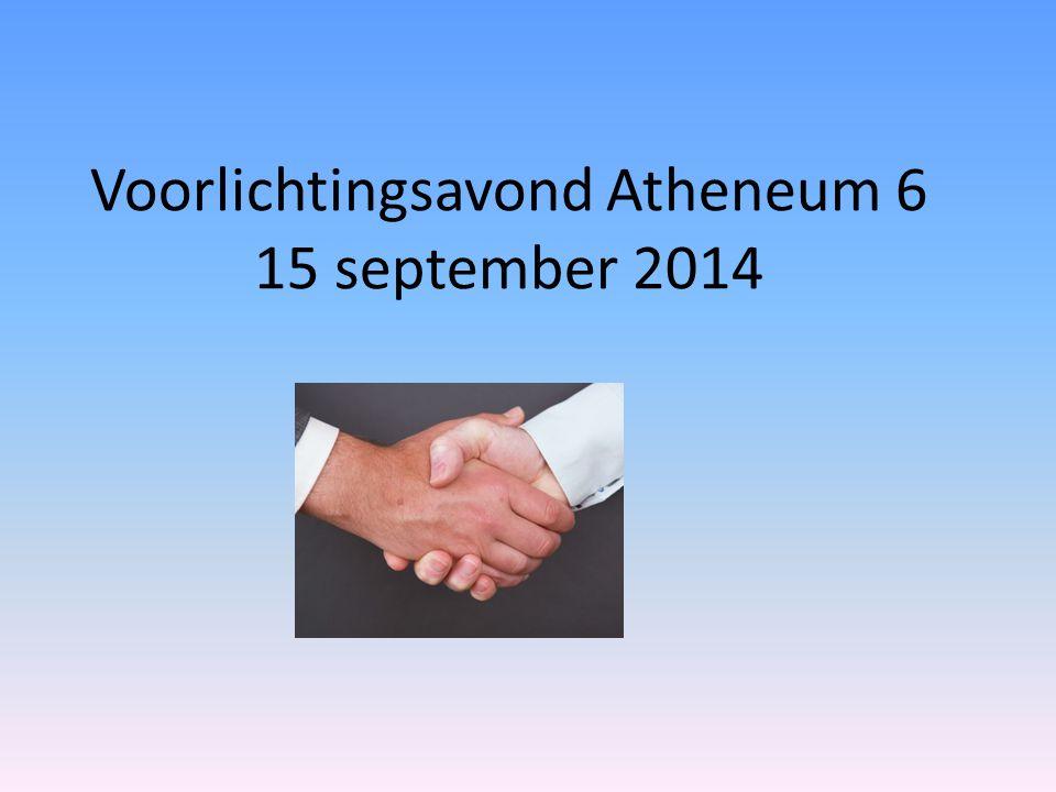Voorlichtingsavond Atheneum 6 15 september 2014