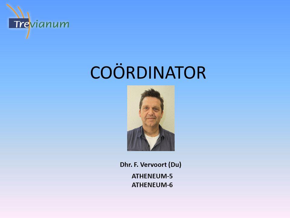 COÖRDINATOR ATHENEUM-5 ATHENEUM-6 Dhr. F. Vervoort (Du)