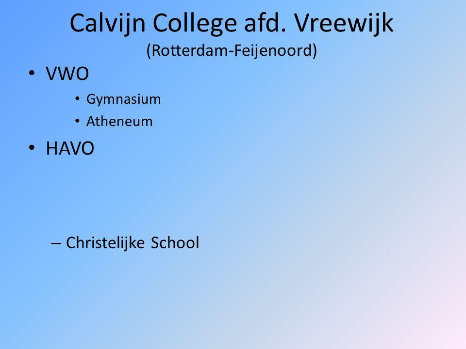 Scheepvaart en Transport College (Rotterdam-Waalhaven) VMBO Gemengde, Kader- en Basisberoepsgerichte Leerweg Sector Techniek – Haven en Vervoer – Rijn