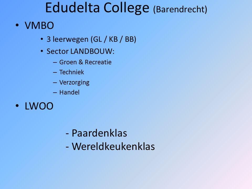 Horeca Vakschool (Rotterdam-Noord) VMBO 4 Leerwegen sector TECHNIEK: consumptief – Koken en serveren – Brood & banket – Toerisme & hospitality