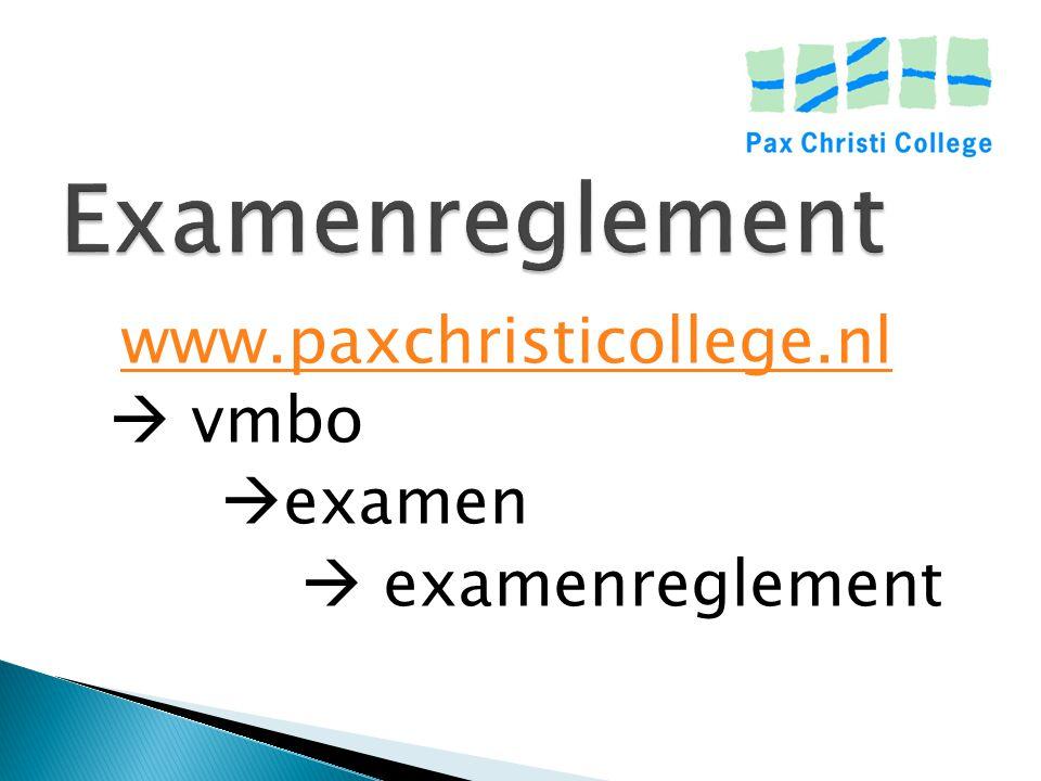 Calamiteiten in examentijd Advies: geen vakantie plannen tussen de start van de examens en het begin van de zomervakantie ( 4 juli).