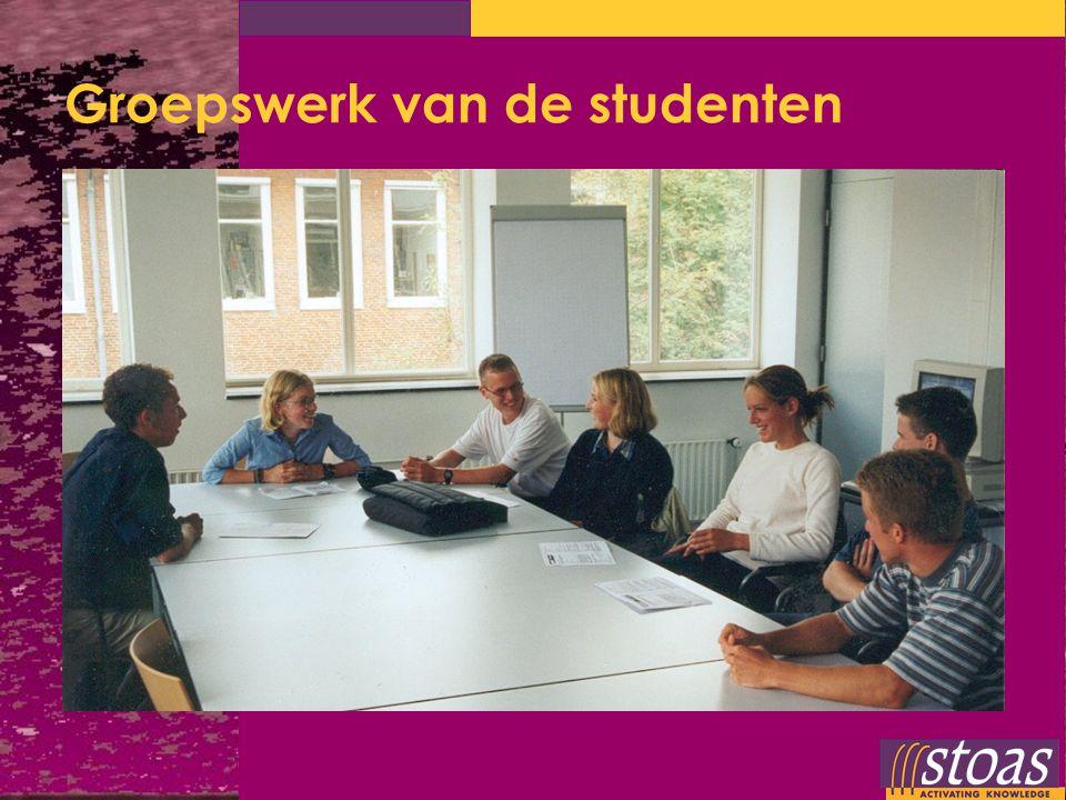 Groepswerk van de studenten