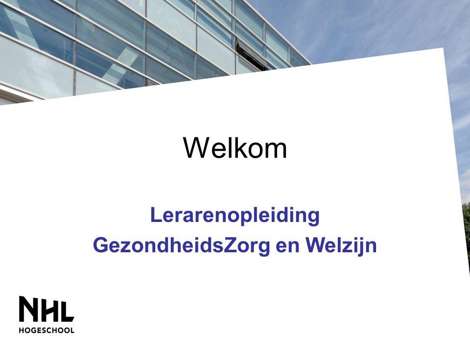 Welkom Lerarenopleiding GezondheidsZorg en Welzijn