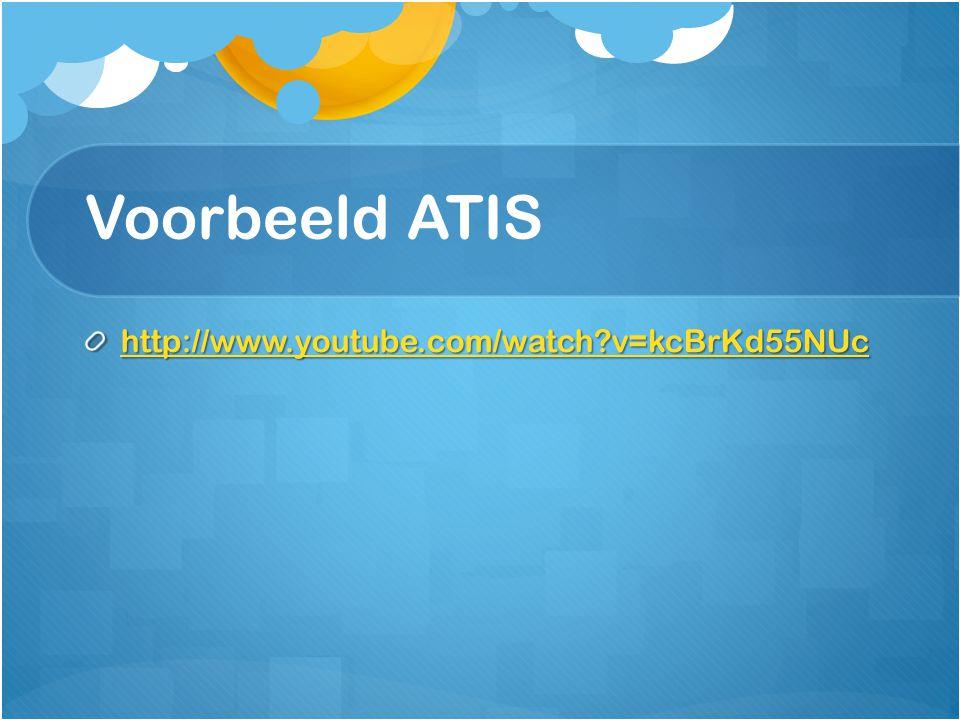Voorbeeld ATIS http://www.youtube.com/watch?v=kcBrKd55NUc