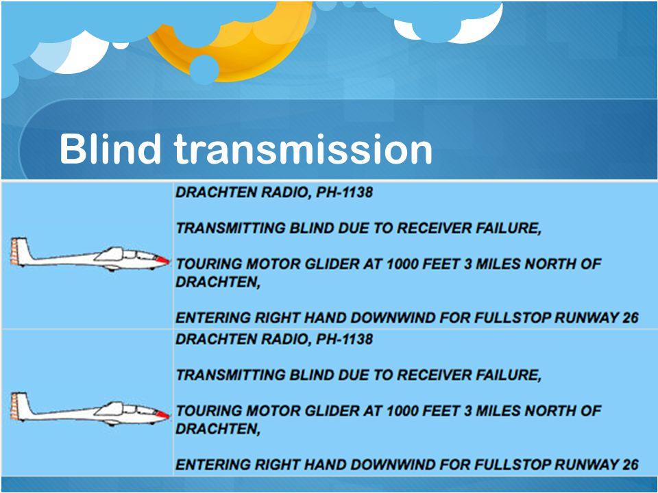 Blind transmission