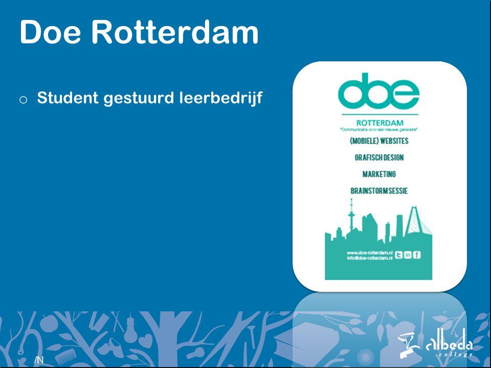 /N Doe Rotterdam o Student gestuurd leerbedrijf
