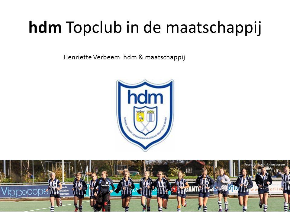 hdm Topclub in de maatschappij Henriette Verbeem hdm & maatschappij