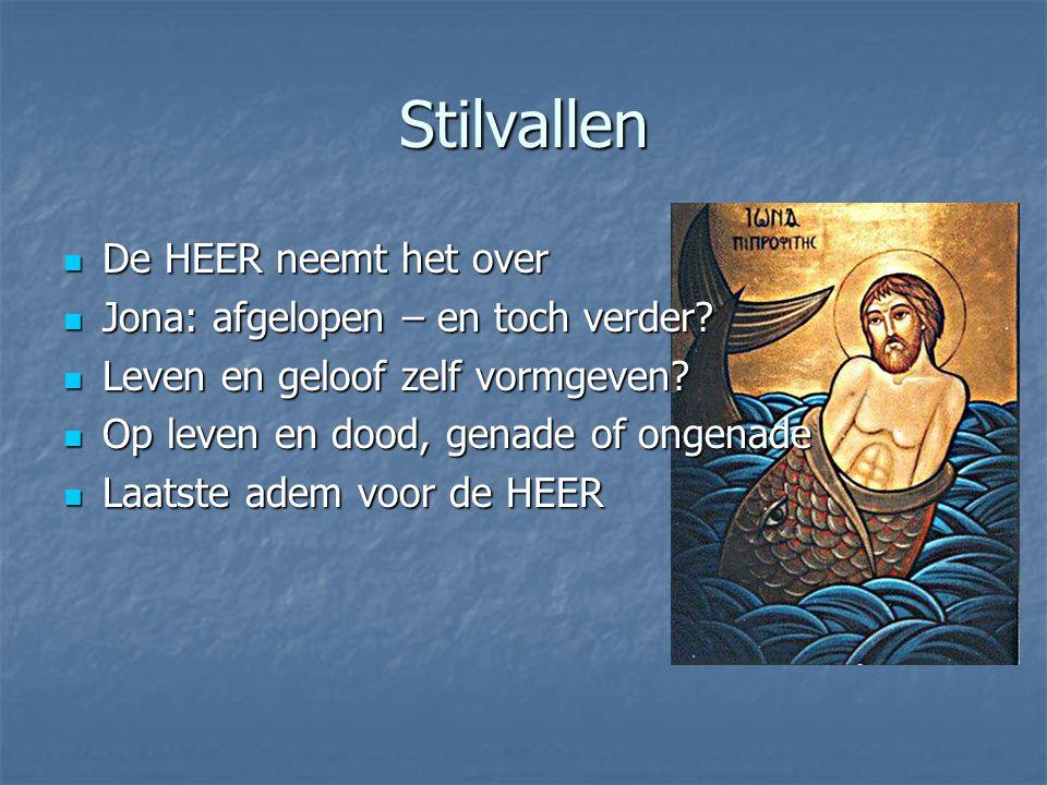 Stilvallen De HEER neemt het over De HEER neemt het over Jona: afgelopen – en toch verder.