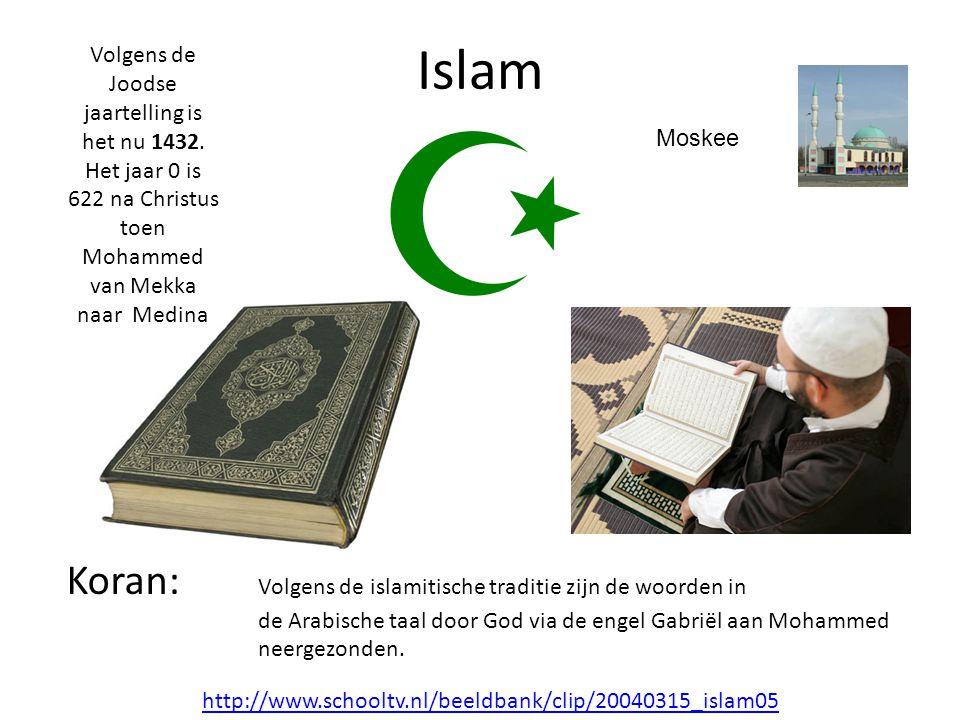 http://www.schooltv.nl/beeldbank/clip/20040315_islam05 Islam Volgens de Joodse jaartelling is het nu 1432.