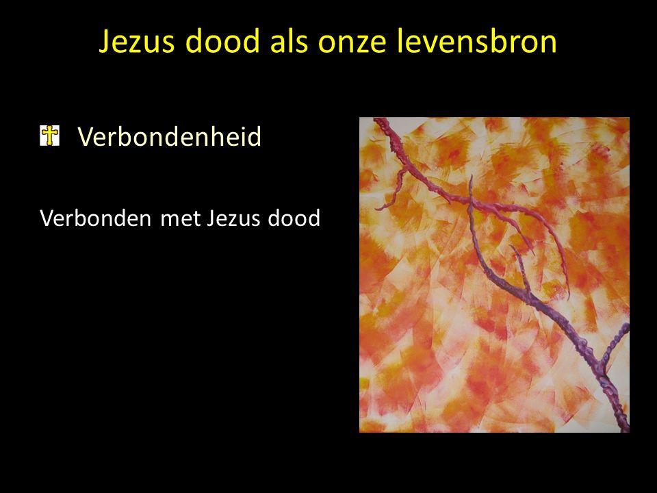 Jezus dood als onze levensbron Verbondenheid Verbonden met Jezus dood