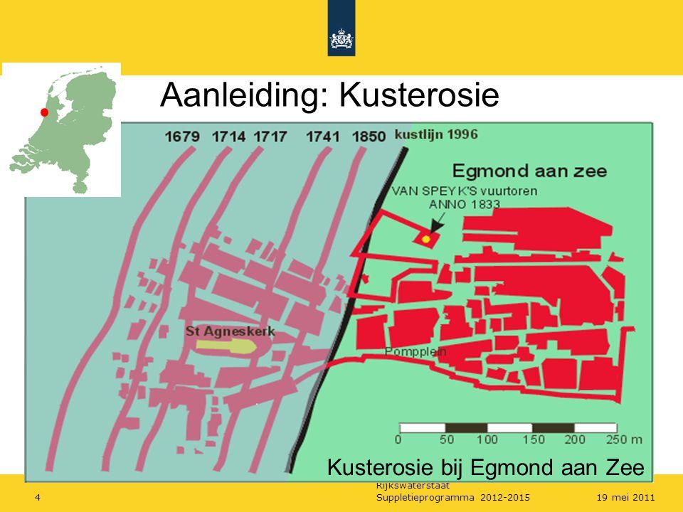 Rijkswaterstaat Suppletieprogramma 2012-2015519 mei 2011 Van meting tot suppletieprogramma
