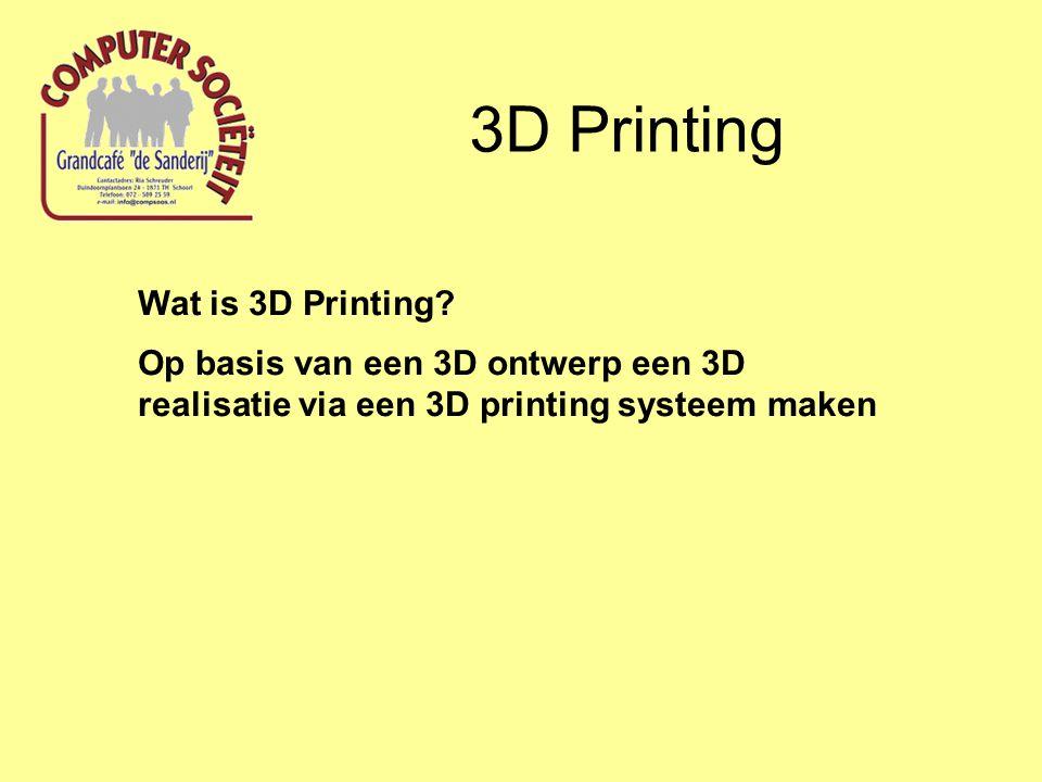 3D Printing Wat is 3D Printing.