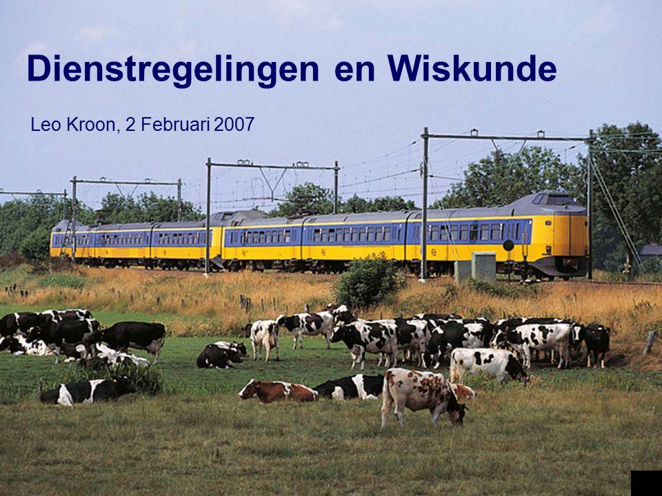 Nederlands spoor systeem Kenmerken: Hoge benutting van de infra Cyclische dienstregeling (1 uur) Meerdere trein typen Veel aansluitingen 0 50km