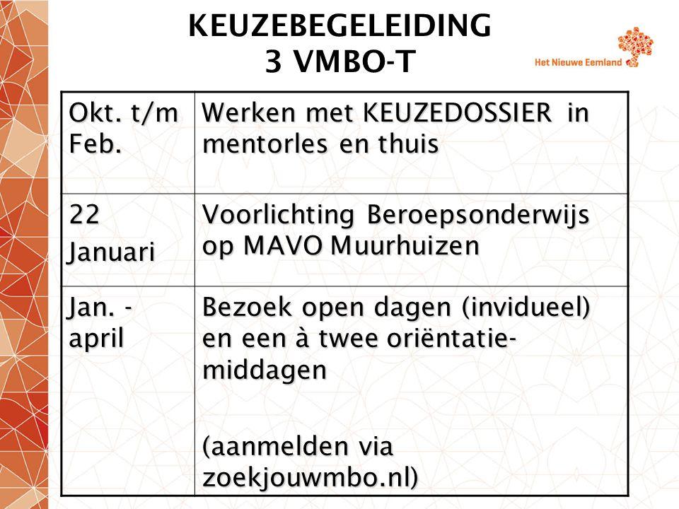 KEUZEBEGELEIDING 3 VMBO-T Okt.t/m Feb.