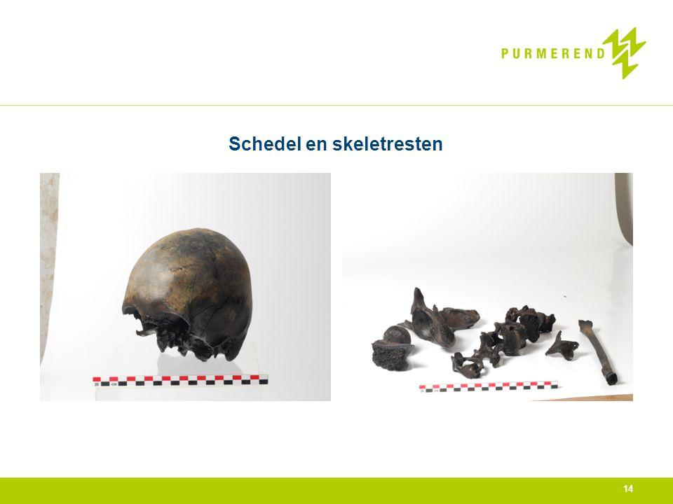 Schedel en skeletresten 14