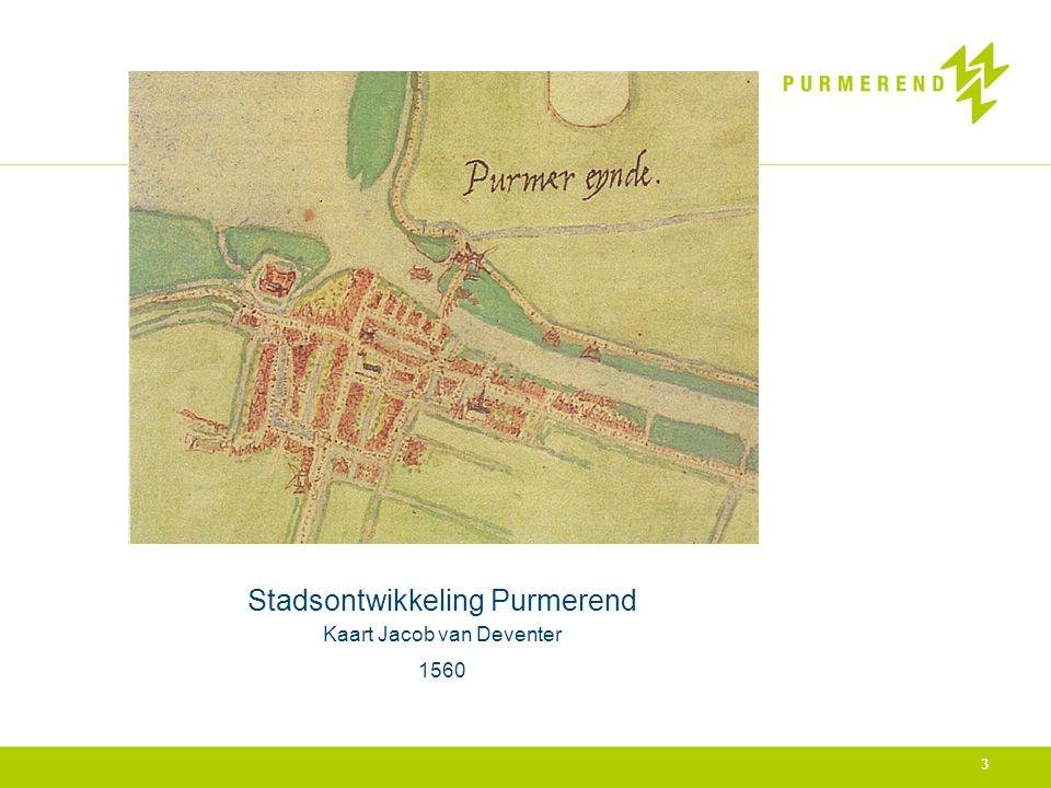 Stadsontwikkeling Purmerend Kaart Jacob van Deventer 1560 3