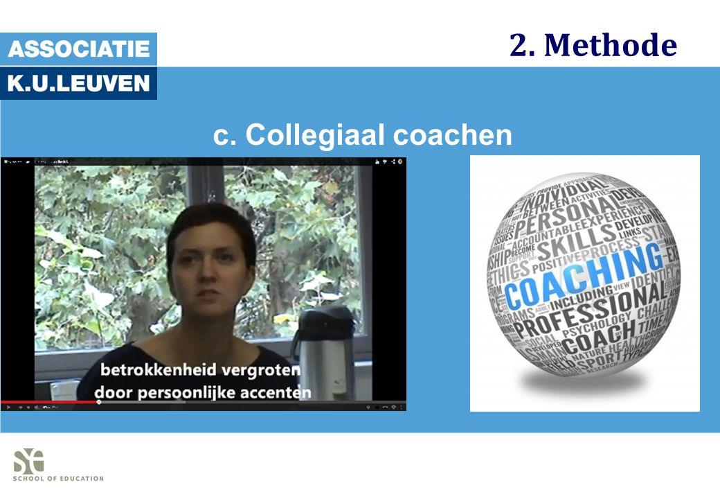 2. Methode c. Collegiaal coachen