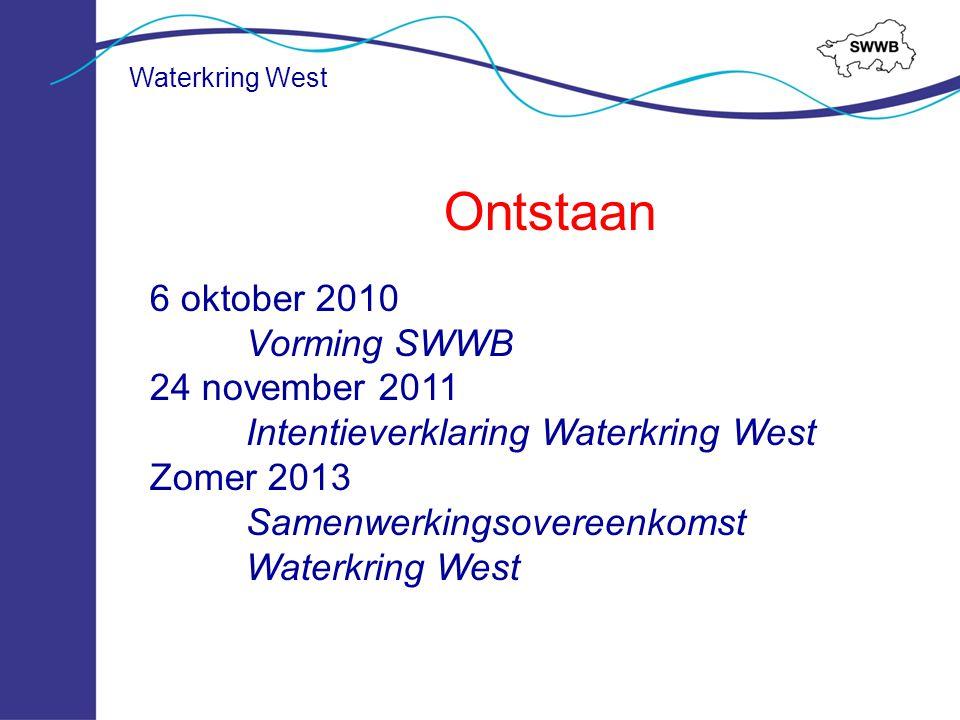 Waterkring West Overkoepelend afvalwaterplan bestaande uit: 1.Een samenvatting uit vGRP's en WEZP met op hoofdlijn de samenhang, visie en wijze van samenwerking en kansen voor doelmatigheidswinst 2.Bundeling uitvoeringsprogramma's van alle instanties, met onderscheid voor de kosten jaarlijkse exploitatie en investeringen komende planperiode.