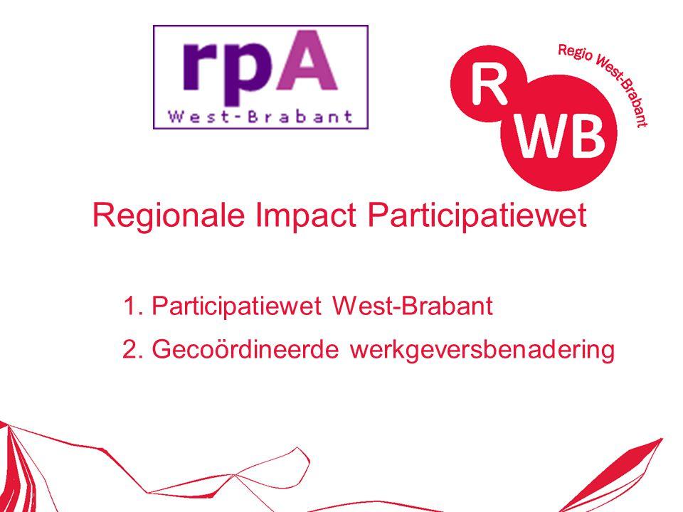 Regionale Impact Participatiewet 1. Participatiewet West-Brabant 2. Gecoördineerde werkgeversbenadering