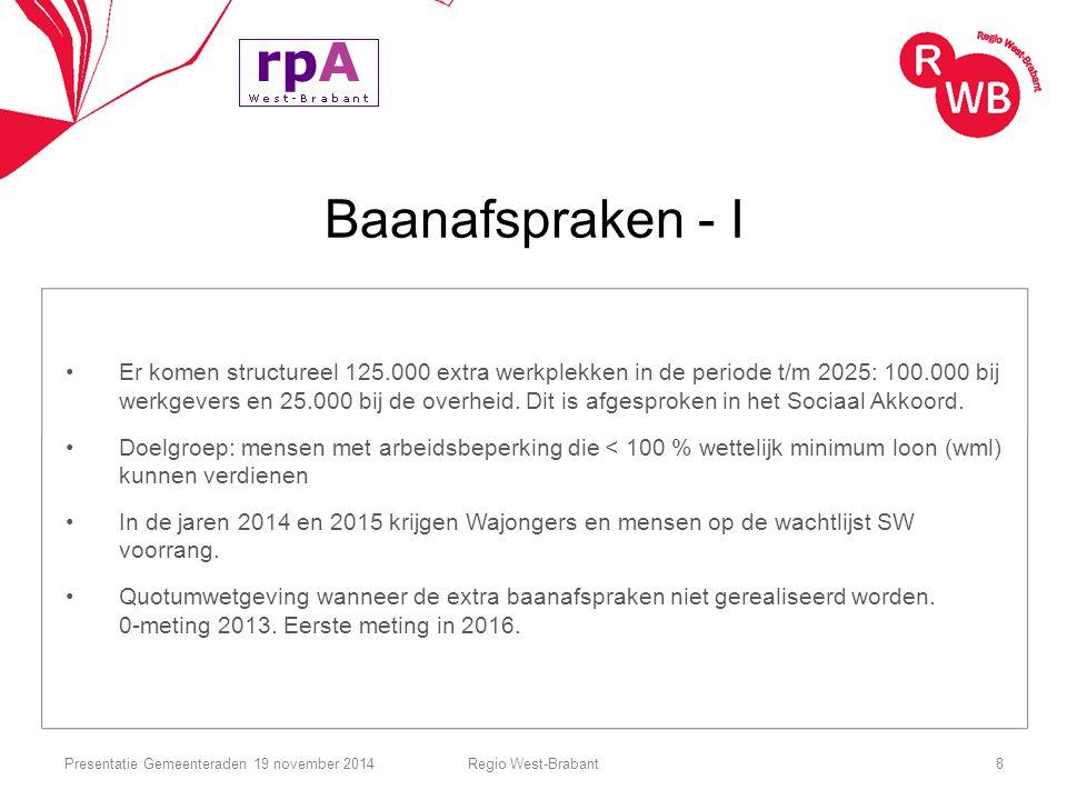 Baanafspraken - I Er komen structureel 125.000 extra werkplekken in de periode t/m 2025: 100.000 bij werkgevers en 25.000 bij de overheid. Dit is afge