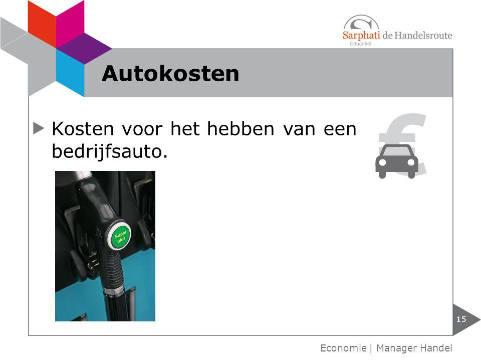 Kosten voor het hebben van een bedrijfsauto. Autokosten 15 Economie | Manager Handel
