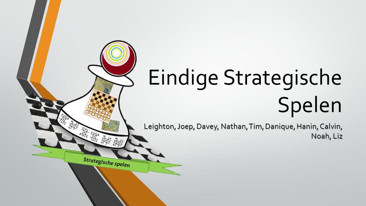 Eindige Strategische Spelen Leighton, Joep, Davey, Nathan, Tim, Danique, Hanin, Calvin, Noah, Liz