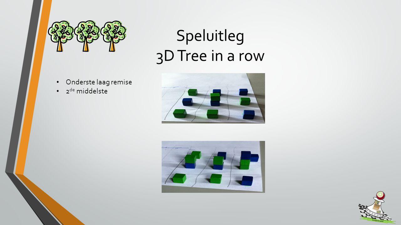 Speluitleg 3D Tree in a row Onderste laag remise 2 de middelste