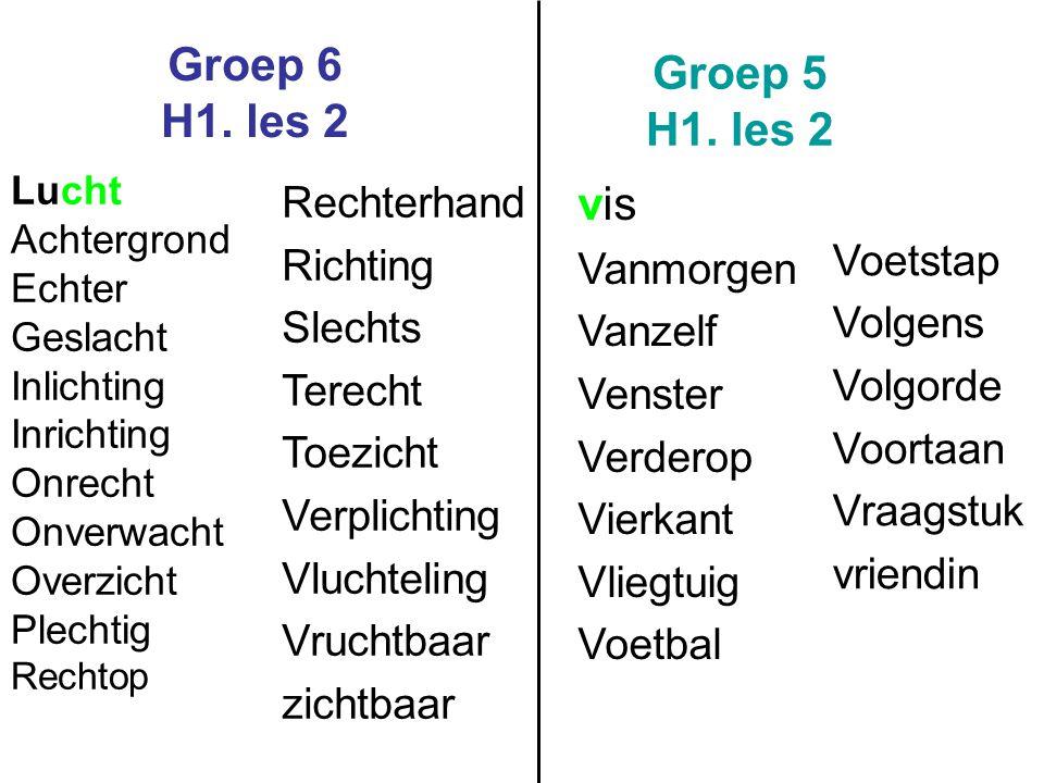 Groep 6 H1.les 2 Groep 5 H1.