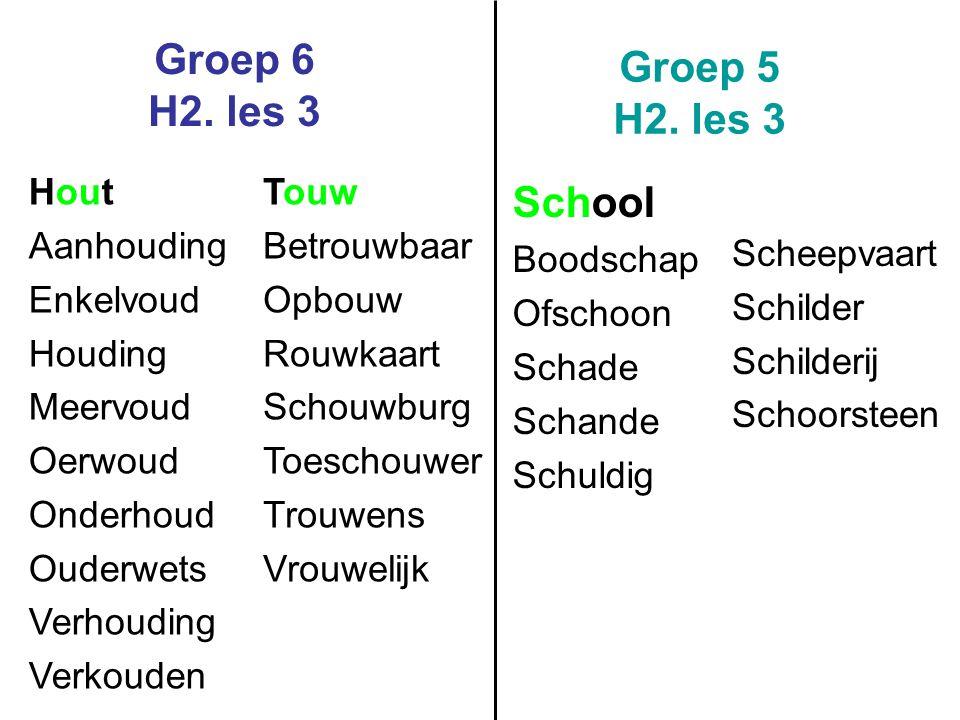 Groep 6 H2.les 3 Groep 5 H2.