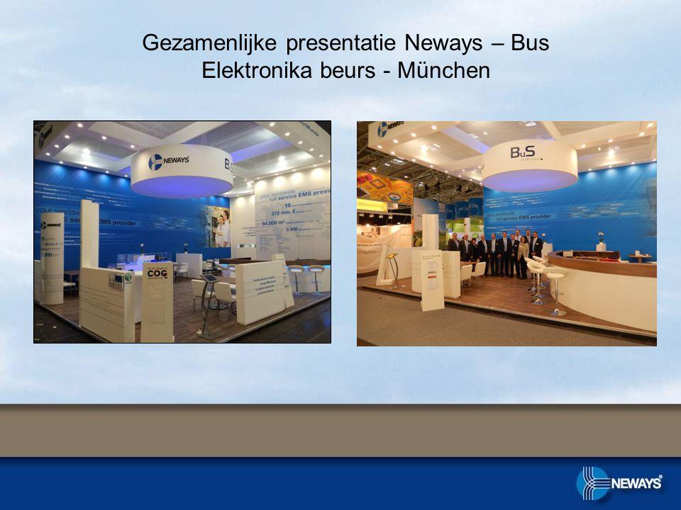 Gezamenlijke presentatie Neways – Bus Elektronika beurs - München